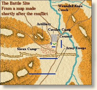 Map of Battle Area